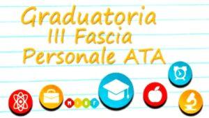 Graduatoria III Fascia personale ATA